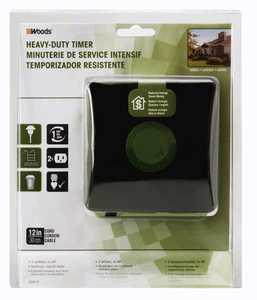 Woods 50012WD 24-Hour Heavy Duty Outdoor Mechanical Timer