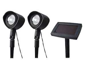 Moonrays 93382 Spotlights With Remote Solar Panel 2-Pack