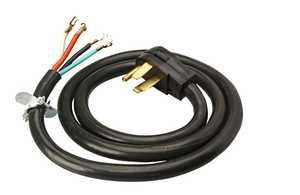 Coleman Cable 090468808 6-Foot 50-Amp Black Range Cord