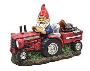 Coleman Cable 92376 Solar Powered Farmer Gnome Light