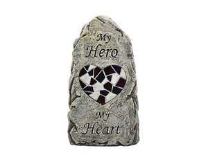 Coleman Cable 91555 Solar Powered My Hero Memorial Stone Light