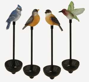 Moonrays 92239FD Assorted Solar Bird Stake Lights