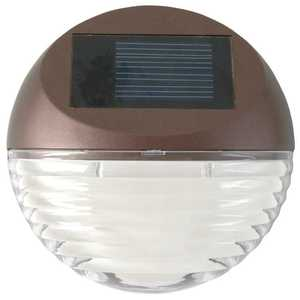 Moonrays 95027 7-Inch Bronze Round Solar LED Wall Mounted Deck Light