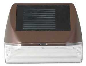 Moonrays 95028 7-Inch Bronze Rectangle Solar LED Wall Mounted Deck Light