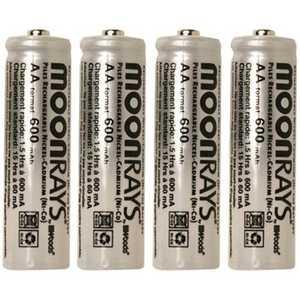 Moonrays 97125 4-Pack AA Solar Batteries