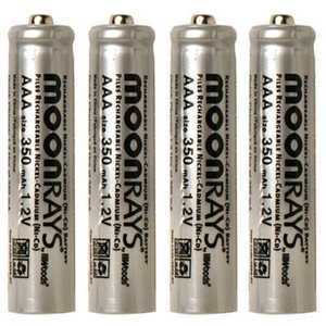 Moonrays 97126 4-Pack AAA Solar Batteries