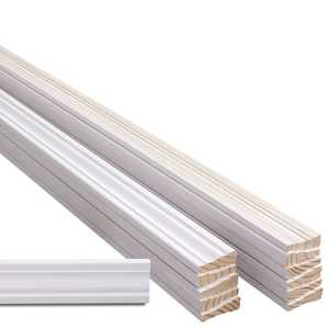 Metrie 623-PFJ12BD8 623 Base Trim Molding Primed Fj 3 in X 12 8Pc Bundle