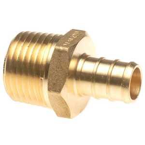 Apollo/PEX APXMA3412 Brass Pex Male Adapter - 1/2 in Barb X 3/4 in Mpt