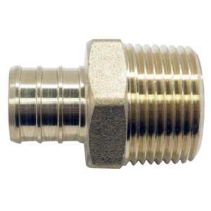 Apollo/PEX APXMA34345PK Brass Pex Male Adapter - 3/4 in Barb X 3/4 in Mpt. 5 Pack.