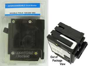 Connecticut Electric VPKICBQ250 Interchangeable Replacement Breaker Double Pole 50amp