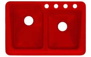 CorStone 36431 Chepachet Double Bowl 55/45 Self Rim Kitchen Sink With Decorative Interior Rim