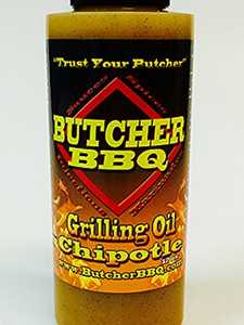 Butcher BBQ Products 74785 Butcher Bbq Chipotle Grilling Oil 12 oz