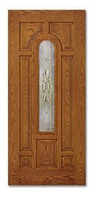 Duracraft Millwork L-632ZR-FB 36 in Fiberglass Arch Entry Door