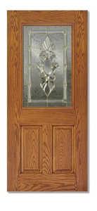 Duracraft Millwork FG-L-684ZRL 36 in Half Lite Fiberglass Entry Door