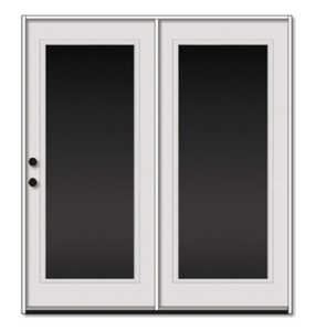 Sutherlands 6/0X6/8 RH 6/0 1 Lite Steel Patio Door Unit RH