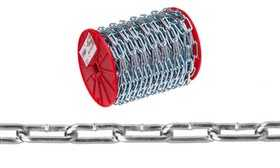 Apex Tool Group 0726827 #2 Straight Link Coil Chain, Zinc Plated, 125 ft Per Reel
