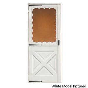 Croft 464-36X80 Storm Door Crossbuck White