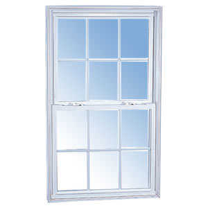 Croft 55W-3/4 x 5/2 Double-Hung Vinyl W/Screen Dl White Low-E 3/4 x 5/2