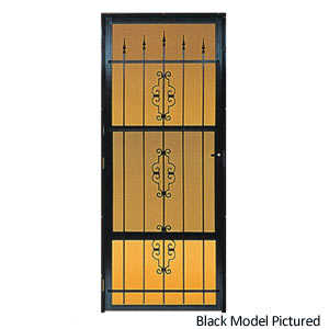Croft 562-36X80 36-Inch White Decorative Storm Door