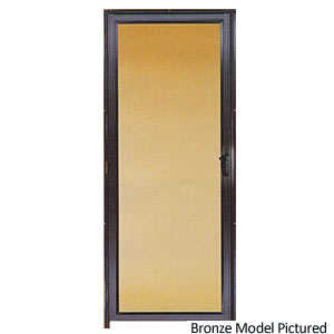 Croft 568-36X80 36-Inch Bronze Full-View Storm Door With Screen