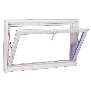 Croft P00351 Basement Window 32x18 White Insulated 1lt