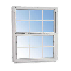 Croft 95-2844 Single Hung Window Non-Tilt White 6/6 Grid 2/8 x 4/4
