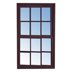 Croft 95-2024 Single Hung Window Non-Tilt Bronze 4/4 Grid 2/0 x 2/4