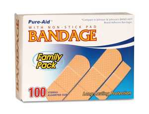 CSI Products Inc CS1100BA Band-Aids Family Pack 100Ct
