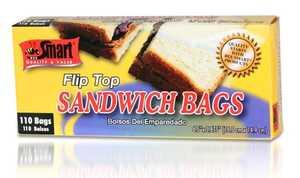 CSI Products Inc CS5500 ft S Sandwich Bags Flip Top 110ct