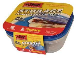 CSI Products Inc CS5551ET Square Entree Containers 25 oz 2pk