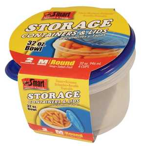 CSI Products Inc CS5555BL Round Bowl Containers 32 oz 2pk