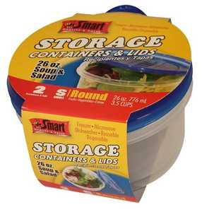 CSI Products Inc CS5556SS Soup & Salad Containers 26 oz 2pk