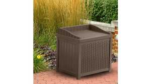 Suncast SSW1200 Seat Storage Wicker Resin