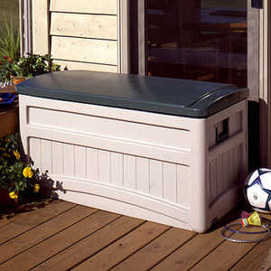 Suncast DB8000 Deck Box With Wheels