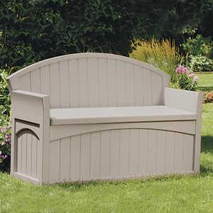 Suncast PB6700 Patio Bench With Storage