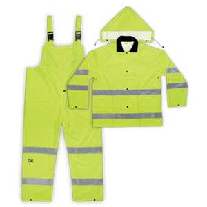 Custom Leathercraft R111M Rain Suit 3pc Class 3 M