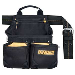 DeWalt DG5663 6-Pocket Black Framers Nail And Tool Bag