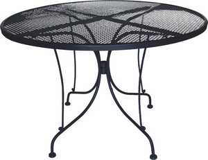 DC America WIT248 Charleston Wrought Iron Table-48 in Dia