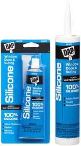 Dap 08646 Silicone Window and Door Sealant 10.1 fl. oz. White