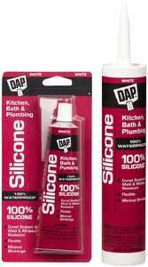 Dap 08640 Silicone Kitchen and Bath Sealant 10.1 fl. oz. White