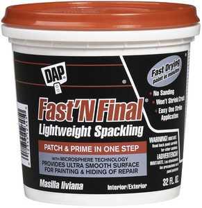 Dap 12140 Spackling Fast N Final 1/2-Pint White