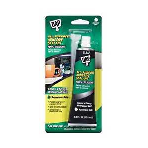 Dap 00688 All-Purpose 100% Silicone Adhesive Sealant 2.8 fl. oz. Clear