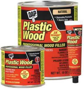 Dap 21408 Plastic Wood Solvent Wood Filler 4 oz Golden Oak