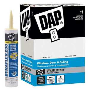 Dap 18660 Alex Plus Acrylic Latex Caulk Contractor 12-Pack 10.1 fl. oz. Clear