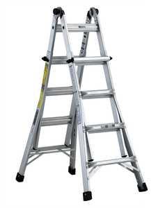 Louisville Ladder L-2098-17 17 ft Type IA Aluminum Multipurpose Ladder, 300 Lb Rated