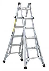 Louisville Ladder L-2098-22 22 ft Type Ia Aluminum Multipurpose Ladder, 300 Lb Rated