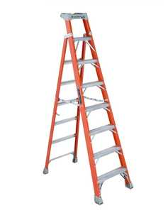 Louisville Ladder FXS1508 8 ft Type IA Cross Step Louisville Step to Shelf Ladder, 300 Lb Rated