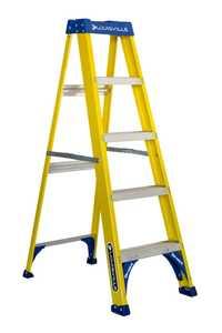 Louisville Ladder FS2005 5 ft Type I Fiberglass Step Ladder, 250 Lb Rated