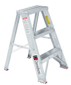 Louisville Ladder L-2311-02 2 ft Type III Aluminum Step Stool, 200 Lb Rated