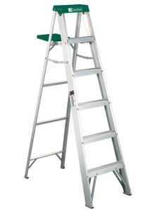 Louisville Ladder AS4006 6 ft Type II Aluminum Step Ladder, 225 Lb Rated